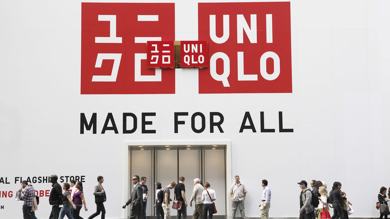A sign for Uniqlo is shown on it's store, Tuesday, Oct. 11, 2011 in New York. The Japanese retailer is opening a Fifth Avenue flagship store, Friday, Oct. 14.