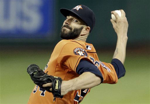 "<div class=""meta image-caption""><div class=""origin-logo origin-image none""><span>none</span></div><span class=""caption-text"">Houston Astros' Mike Fiers delivers a pitch against the Los Angeles Dodgers in the sixth inning (AP Photo/ Pat Sullivan)</span></div>"