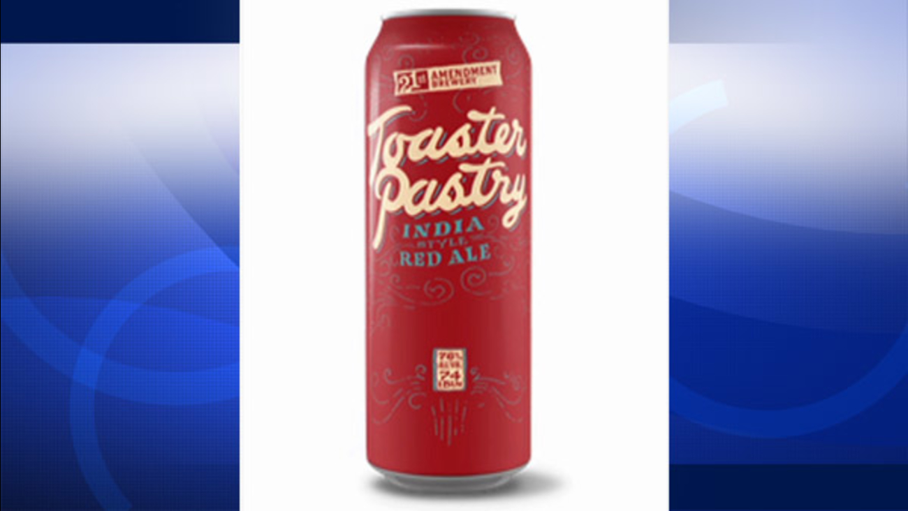 An image of the Pop-Tart-inspired beer can is shown.