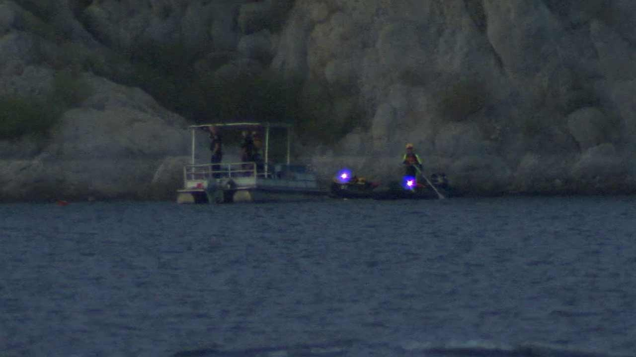 Divers found the body of a 60-year-old man who fell from a boat in about 25 feet of water at Irvine Lake in Silverado on Sunday, Aug. 23, 2015.
