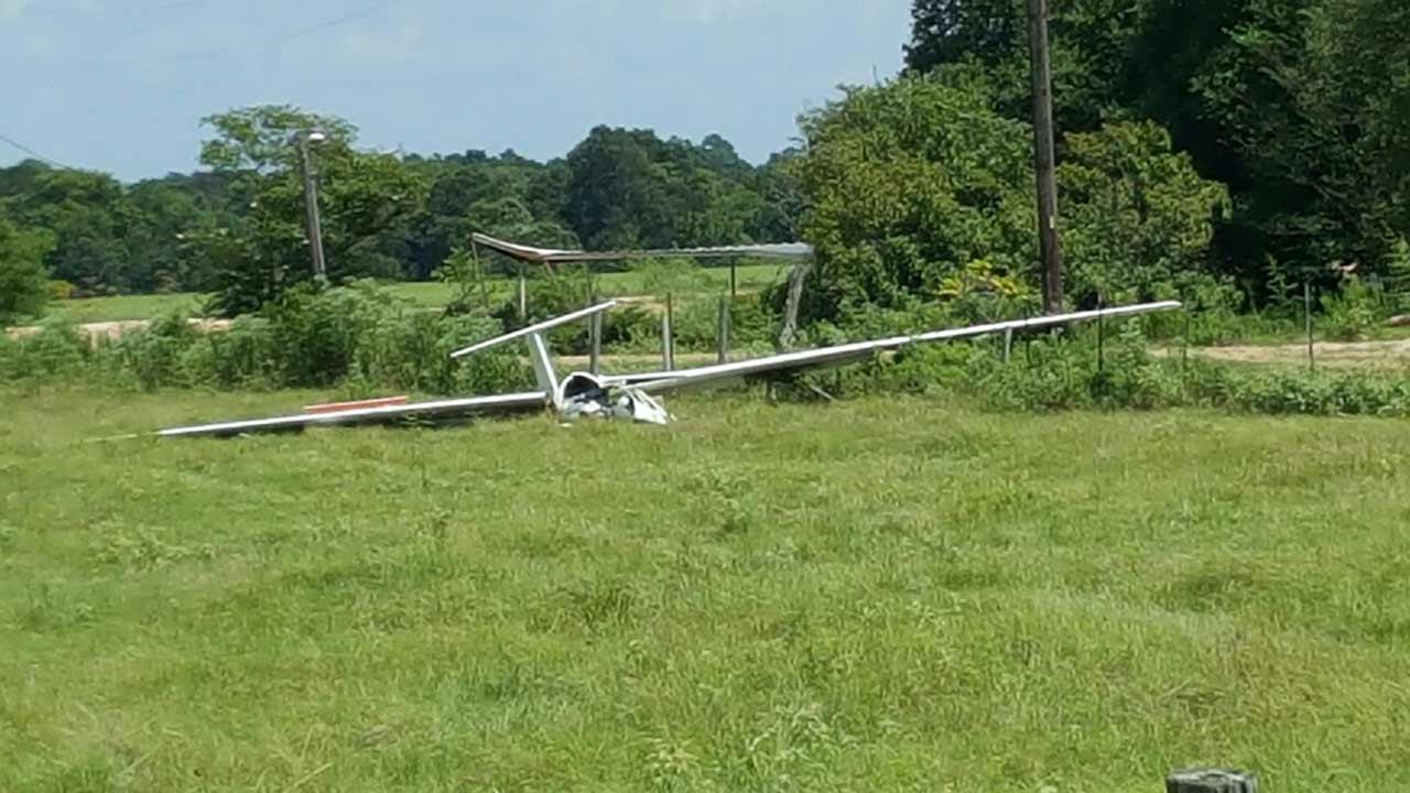 Glider crash