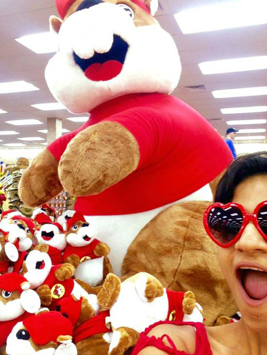 """<div class=""""meta image-caption""""><div class=""""origin-logo origin-image none""""><span>none</span></div><span class=""""caption-text"""">Pooja stopped at Buc-ee's on the way back to Houston (KTRK Photo)</span></div>"""