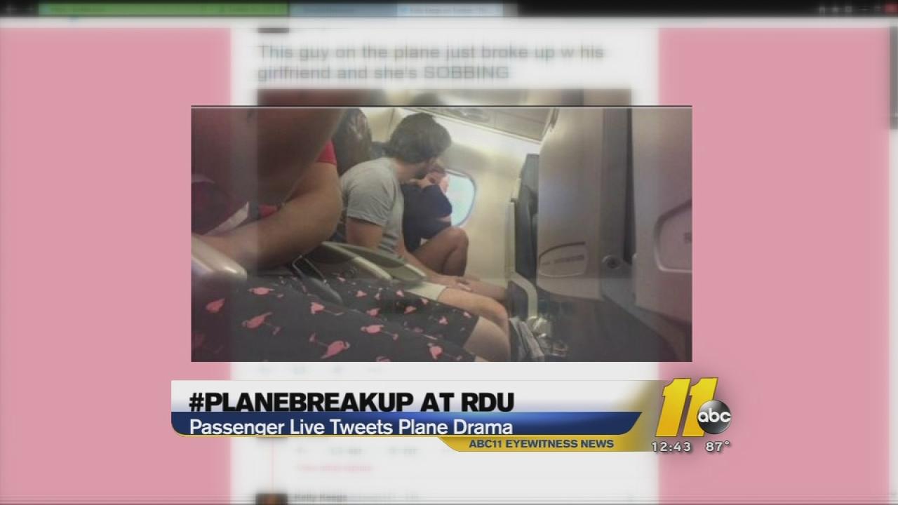 #planebreakup at RDU