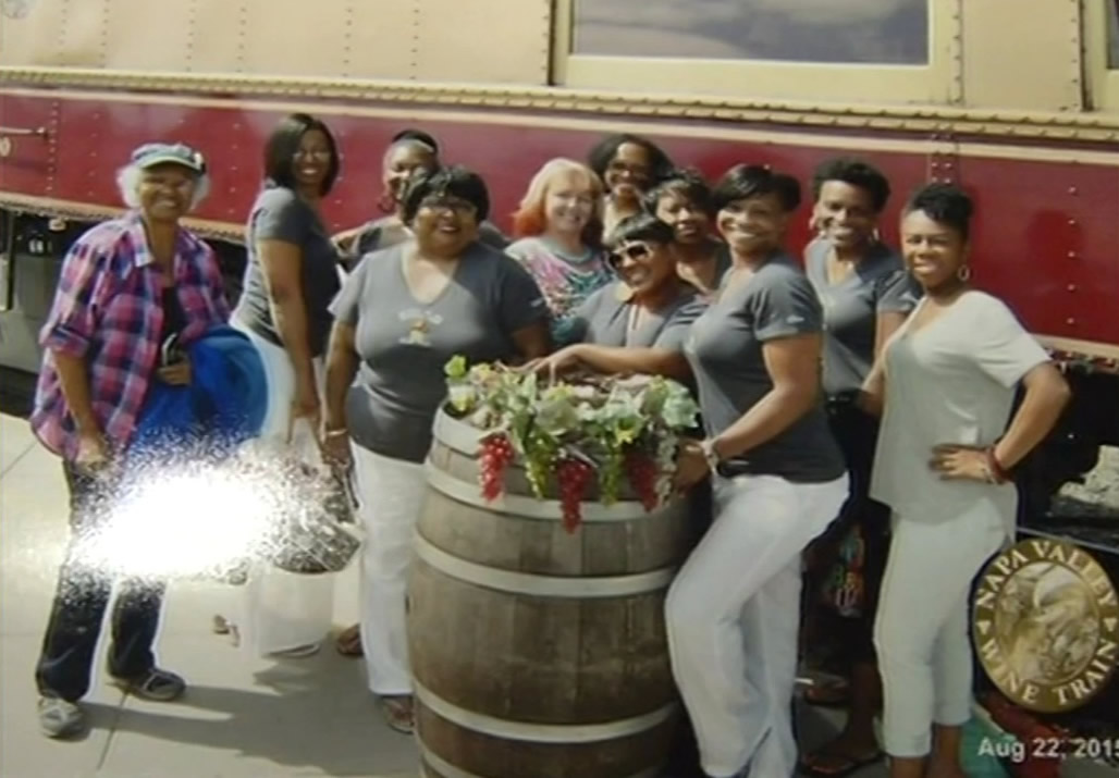 A black women's book club say they were unfairly ejected from the Napa Valley Wine Train in St. Helena, Calif. on Saturday, August 22, 2015.