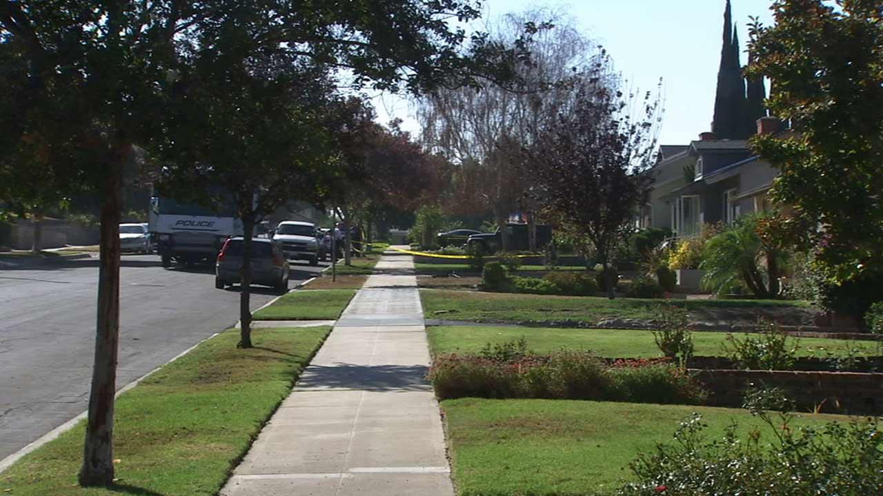 A woman was found dead inside a home in the 1900 block of Richard Street in Burbank Sunday, Aug. 23, 2015.