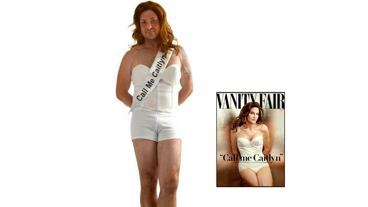 AnytimeCostumes.com is one of several retailers carrying the 'Call Me Caitlyn' costume, which consists of a padded top, matching shorts and a wig.