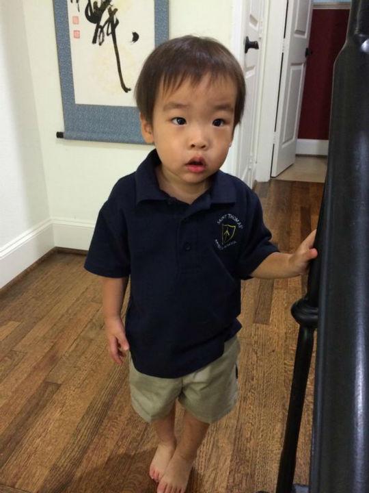 "<div class=""meta image-caption""><div class=""origin-logo origin-image none""><span>none</span></div><span class=""caption-text"">Miya Shay's little boy ready for his first day of preschool (KTRK Photo)</span></div>"