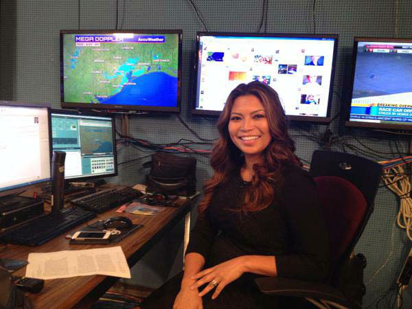 """<div class=""""meta image-caption""""><div class=""""origin-logo origin-image none""""><span>none</span></div><span class=""""caption-text"""">Elita Loresca ready to give you the weather for the first day of school (KTRK Photo)</span></div>"""