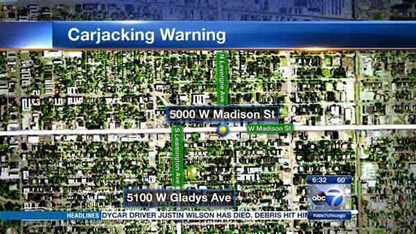 Police are warning residents of two men carjacking drivers in Chicago's Austin neighborhood.