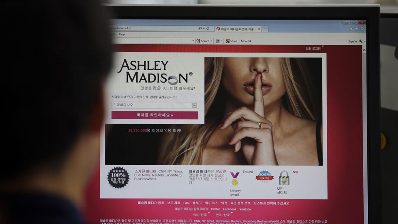 Ashley Madison's web site.