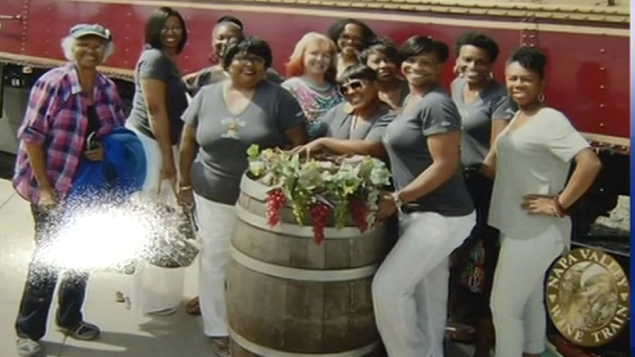 A women's book club say they were unfairly ejected from the Napa Valley Wine Train in St. Helena, Calif. on Saturday, August 22, 2015.