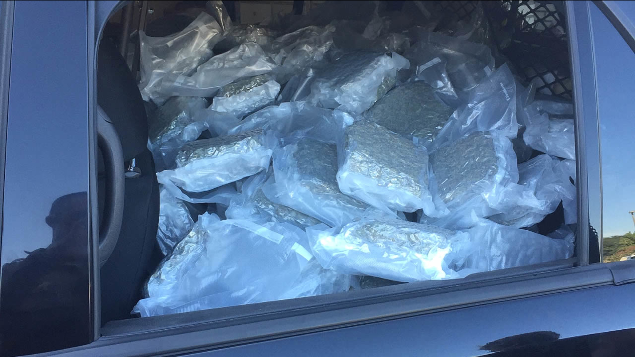 sealed bags containing 225 pounds of marijuana found inside vehicle in cloverdale