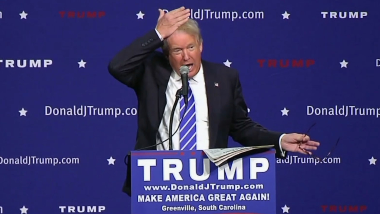 During a campaign stop in Greenville, S.C. on August 27, 2015, Donald Trump attempted to settle an issue that's followed him for years -- is his hair real?