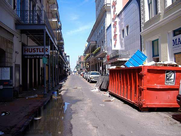 """<div class=""""meta image-caption""""><div class=""""origin-logo origin-image none""""><span>none</span></div><span class=""""caption-text"""">The center of the French Quarter, Bourbon Street, stands empty. (WPVI Photo)</span></div>"""