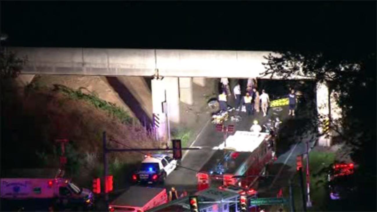 Corvette slams into bridge in Levittown; driver killed