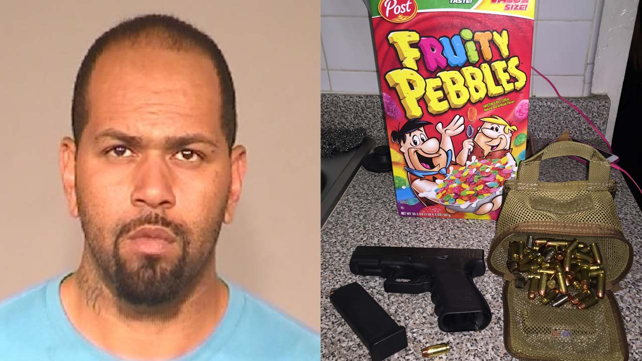 Fresno burglary suspect, Brandon Jones, arrested after police find gun in Fruity Pebbles
