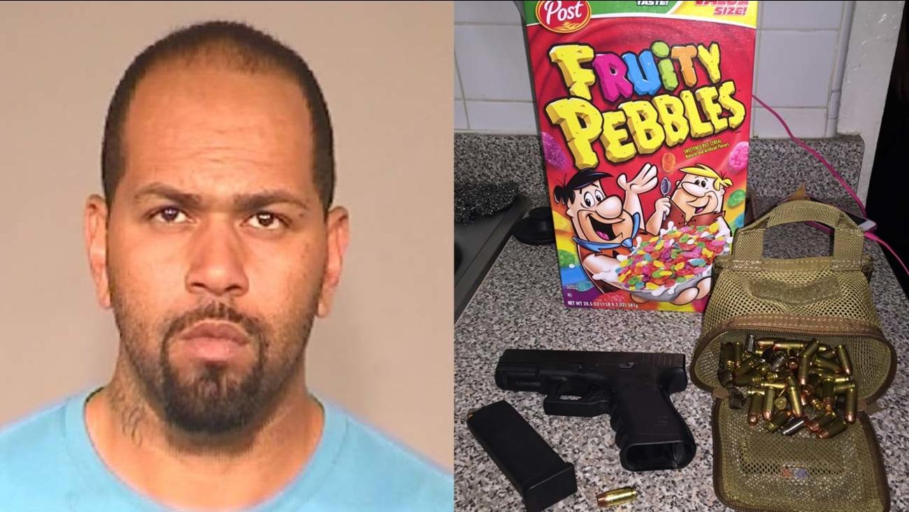 Fresno burglary suspect, Brandon Jones, arrested after police find gun in Fruity Pebbles