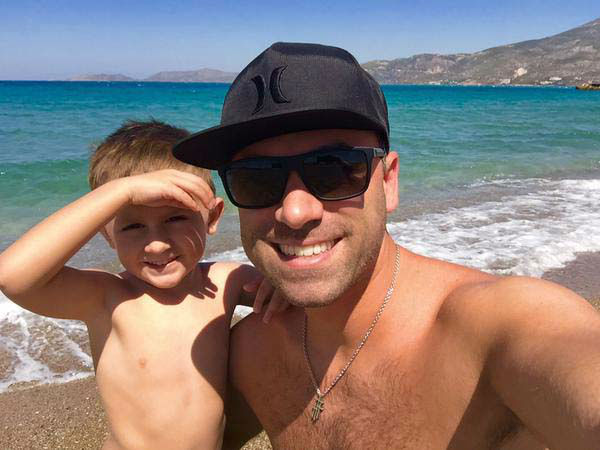 """<div class=""""meta image-caption""""><div class=""""origin-logo origin-image none""""><span>none</span></div><span class=""""caption-text"""">Foti Kallergis and his son are on vacation in Greece! (KTRK Photo)</span></div>"""