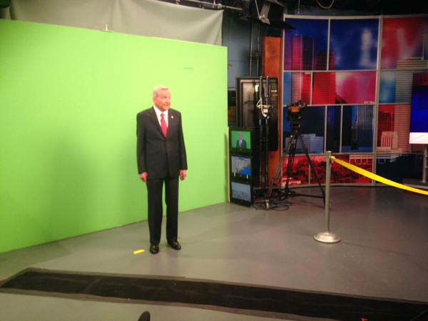 """<div class=""""meta image-caption""""><div class=""""origin-logo origin-image none""""><span>none</span></div><span class=""""caption-text"""">Dave Ward shooting a commercial for Crimestoppers in front of the green screen (KTRK Photo)</span></div>"""