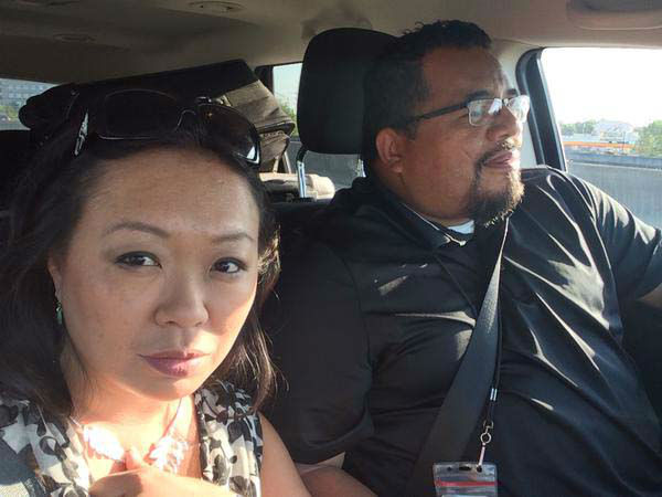 """<div class=""""meta image-caption""""><div class=""""origin-logo origin-image none""""><span>none</span></div><span class=""""caption-text"""">Miya Shay and photographer Rudy on the way to cover a story (KTRK Photo)</span></div>"""