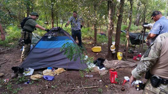 "<div class=""meta image-caption""><div class=""origin-logo origin-image none""><span>none</span></div><span class=""caption-text"">A camping site located near the marijuana farm in Austin County (KTRK Photo/ Austin County Sheriff's Office)</span></div>"