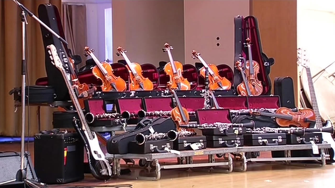 StubHub and the Mr. Holland's Opus Foundation donated $20,000 worth of instruments to Martin Luther King Jr. Elementary School in Oakland, Calif. on August 28, 2015.