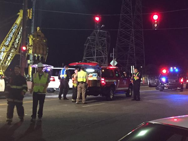 "<div class=""meta image-caption""><div class=""origin-logo origin-image none""><span>none</span></div><span class=""caption-text"">A PG&E transmission tower collapsed on Friday, August 28, 2015 in Burlingame, Calif., causing high-powered transmission lines to fall onto Highway 101. (KGO-TV)</span></div>"