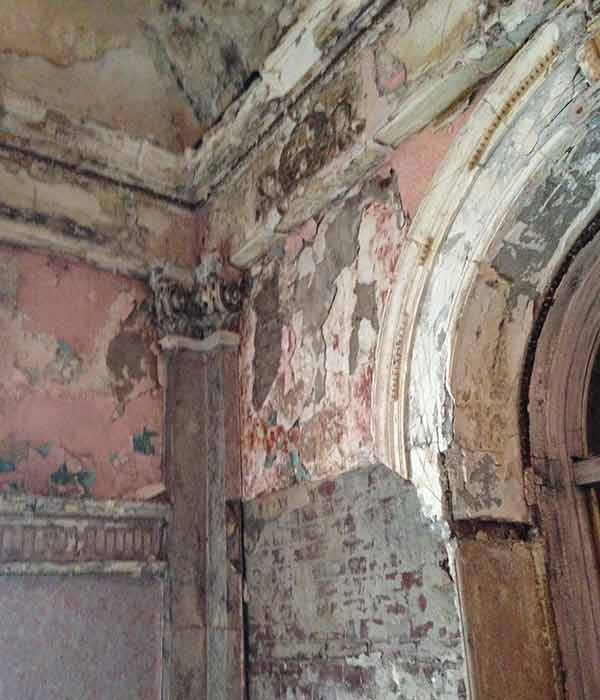 "<div class=""meta image-caption""><div class=""origin-logo origin-image ""><span></span></div><span class=""caption-text"">Action News got a peek inside the landmark Divine Lorraine Hotel where there are hopes to restore it to its former glory.</span></div>"