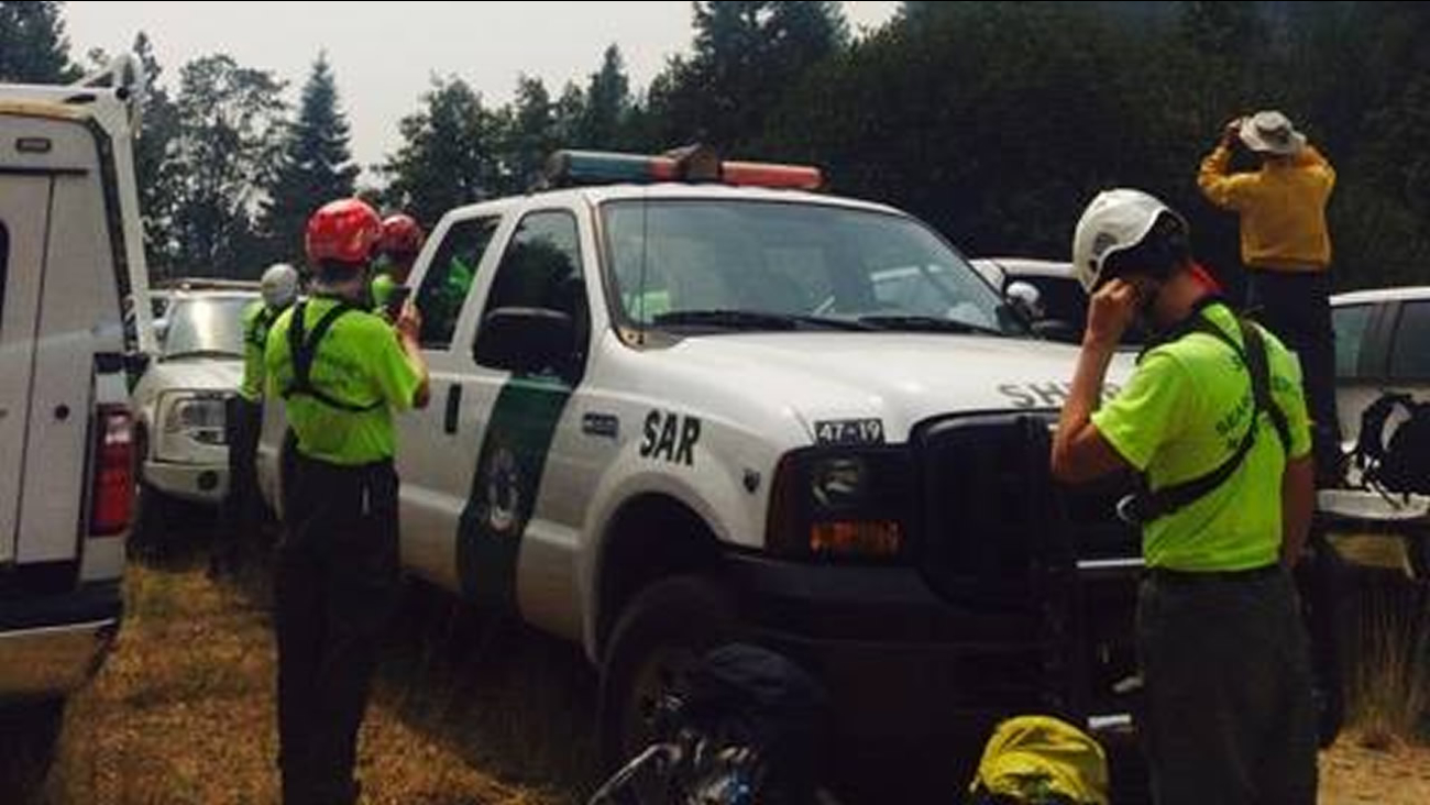 Marin search and rescue team helped locate a missing hiker on Saturday, August 29, 2015.