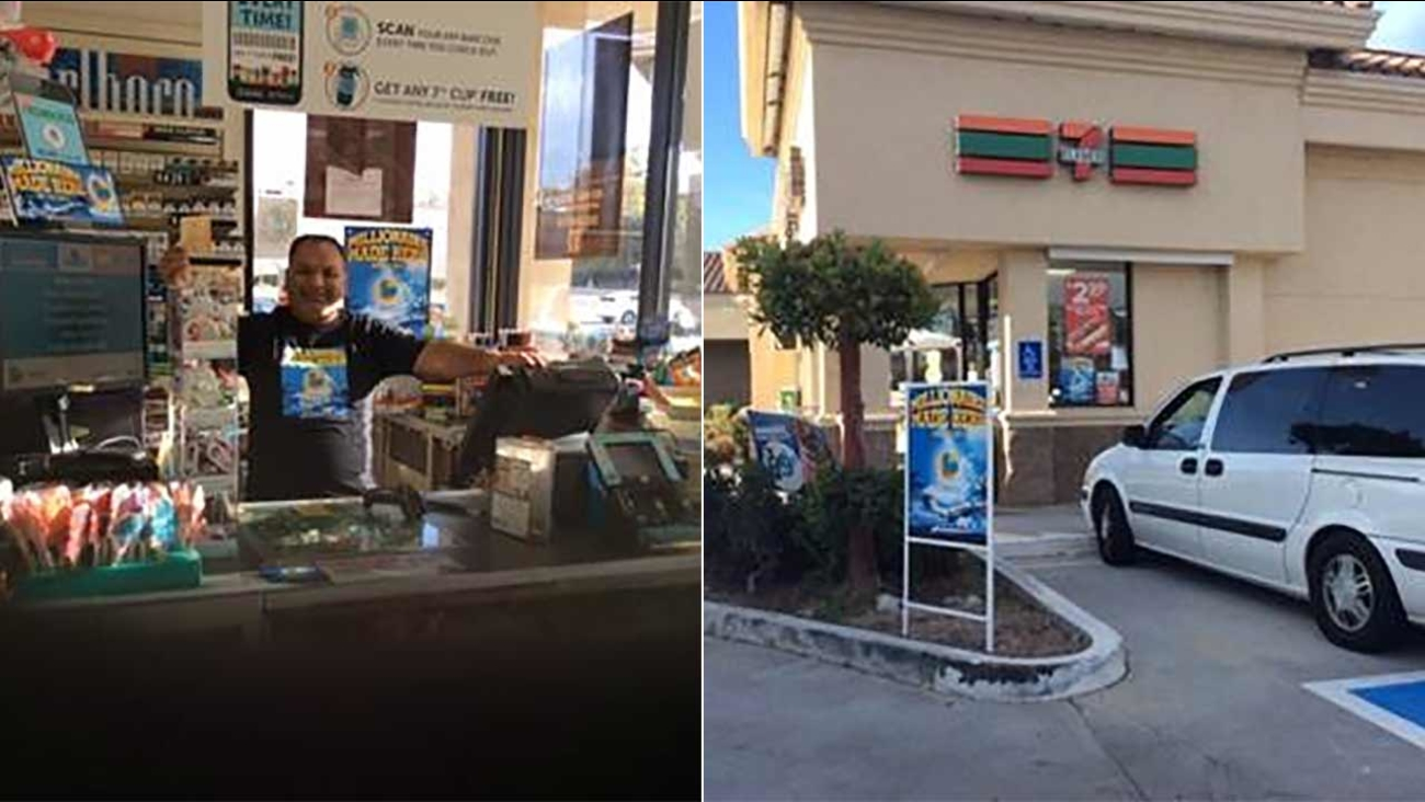 The owners of a 7-Eleven in Thousand Oaks will receive a $6,095 bonus for selling a Powerball ticket worth $1.2 million.