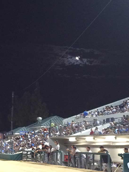 "<div class=""meta image-caption""><div class=""origin-logo origin-image kabc""><span>KABC</span></div><span class=""caption-text"">ABC7 viewer Daniel R. Tepe sent us this photo of the 'Supermoon' over the Giants versus Quakes game in Rancho Cucamonga on Saturday, Aug. 29, 2015.</span></div>"