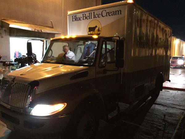 """<div class=""""meta image-caption""""><div class=""""origin-logo origin-image none""""><span>none</span></div><span class=""""caption-text"""">The first shipment of Blue Bell ice cream arrived at an HEB store in Brenham, TX earlier this morning. (KTRK Photo)</span></div>"""