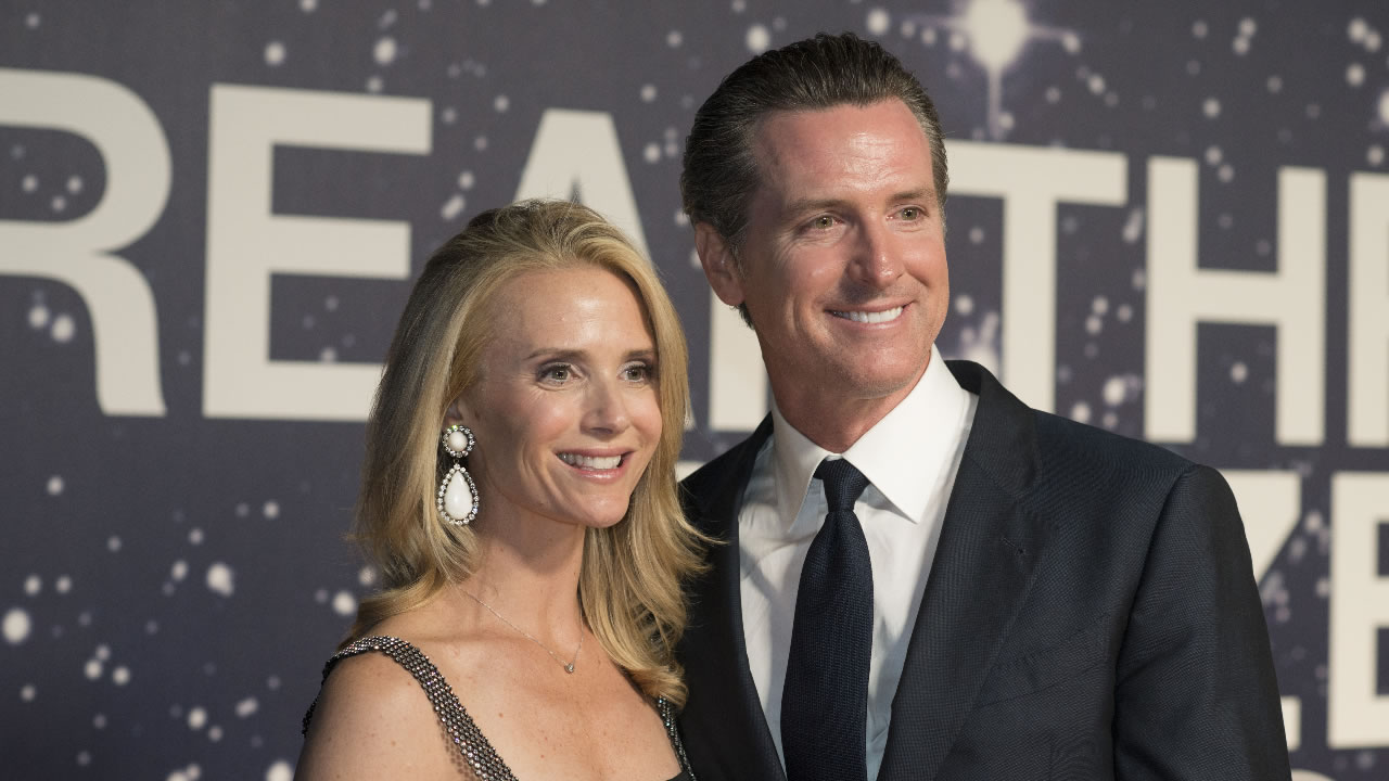 Lieutenant Governor Gavin Newsom and his wife Jennifer Siebel Newsom at the 2nd Annual Breakthrough Prize Award Ceremony on Sunday, November 9, 2014 in Mountain View, California.