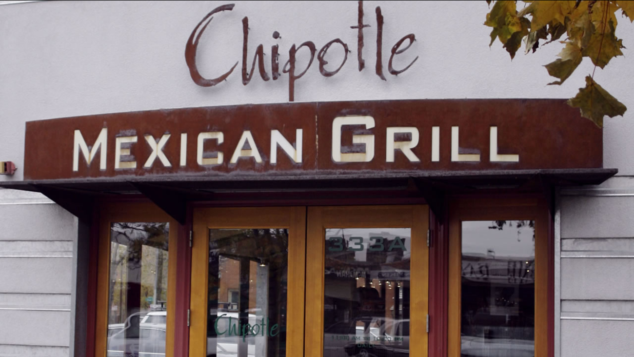 FILE - In this Oct. 31, 2006 photo shows a Chipotle Mexican Grill in central Denver. (AP Photo/David Zalubowski)
