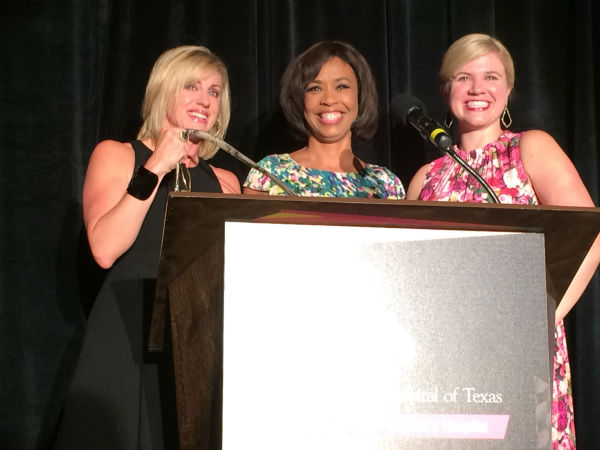 """<div class=""""meta image-caption""""><div class=""""origin-logo origin-image none""""><span>none</span></div><span class=""""caption-text"""">Chair/Emcee Gina Gaston with KTRK Reporter Jessica Willey and Co-Chair/Woman's Hospital of Texas CEO Ashley</span></div>"""