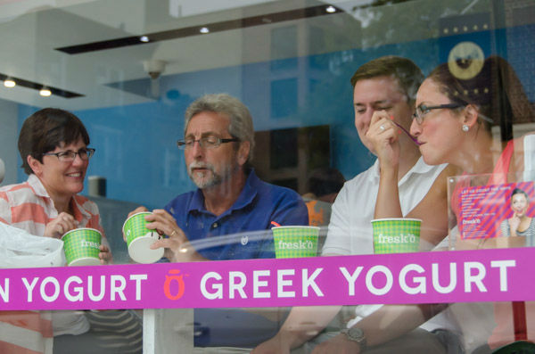 "<div class=""meta image-caption""><div class=""origin-logo origin-image none""><span>none</span></div><span class=""caption-text"">A family enjoys frozen yogurt in Astoria's 'frozen yogurt district' on Sunday, Aug. 30, 2015. (WABC Photo/ Mike Waterhouse)</span></div>"