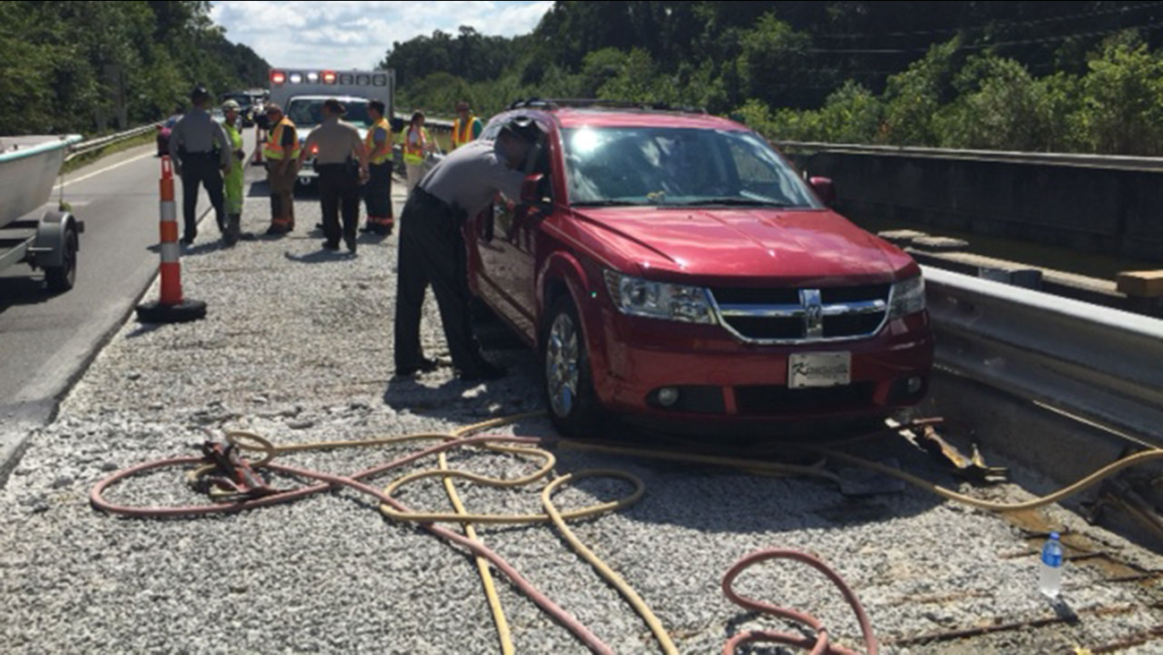 A NCDOT worker was hit by a red SUV along US 70 in Johnston County Tuesday