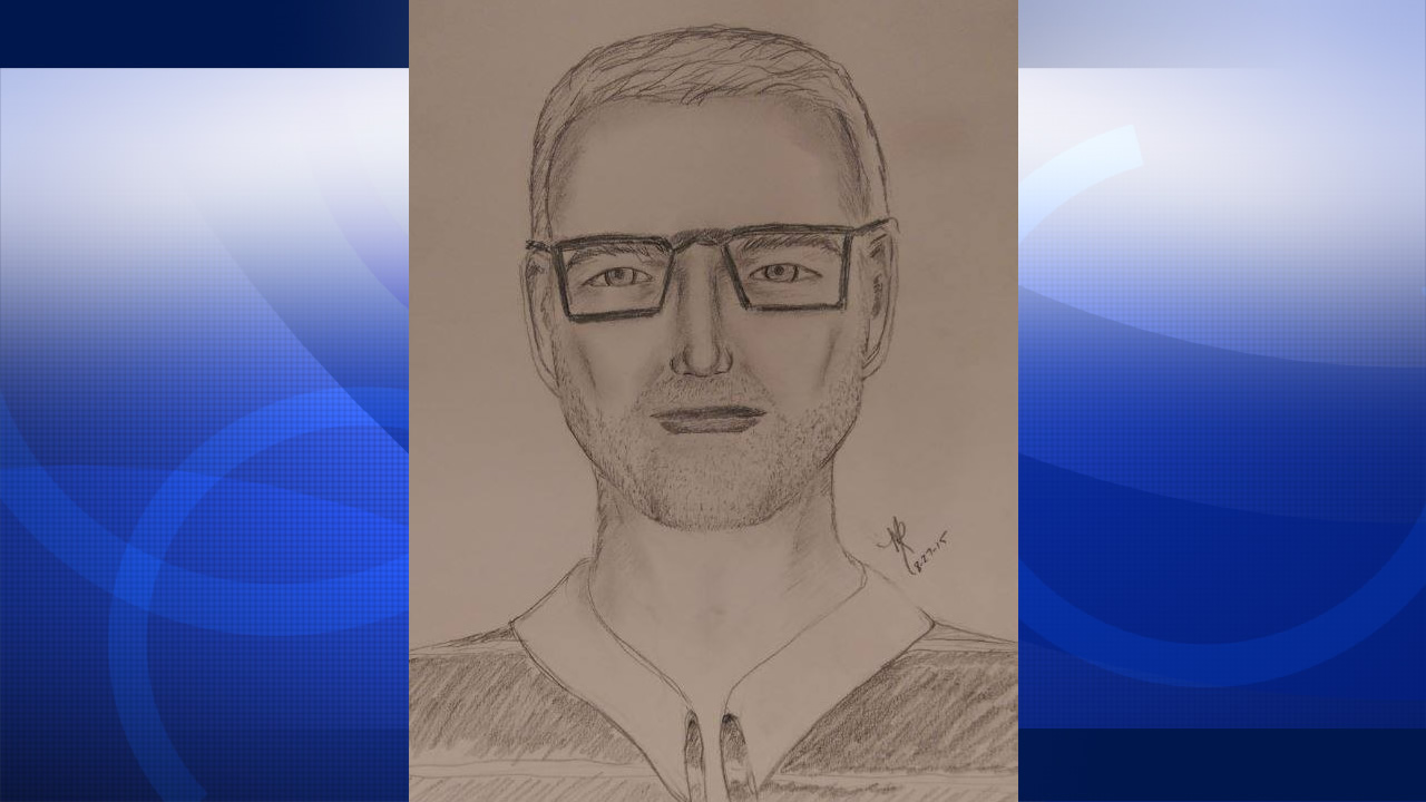 Police say this sketch is of a man who allegedly stripped off all his clothes and exposed himself to a woman in Pleasanton, Calif. on August 20, 2015.