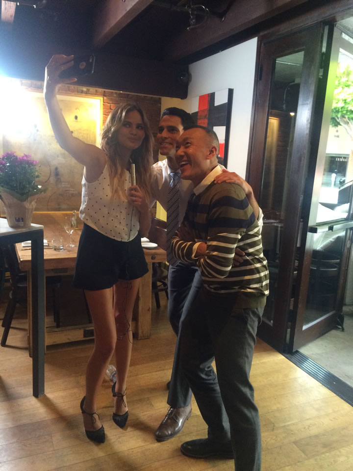 "<div class=""meta image-caption""><div class=""origin-logo origin-image none""><span>none</span></div><span class=""caption-text"">ABC7 Meteorologist Drew Tuma and 'FABLife' Lifestylists Chrissy Teigen and Joe Zee pose for a photo at Piperade in San Francisco on Monday, August 10, 2015. (KGO-TV)</span></div>"