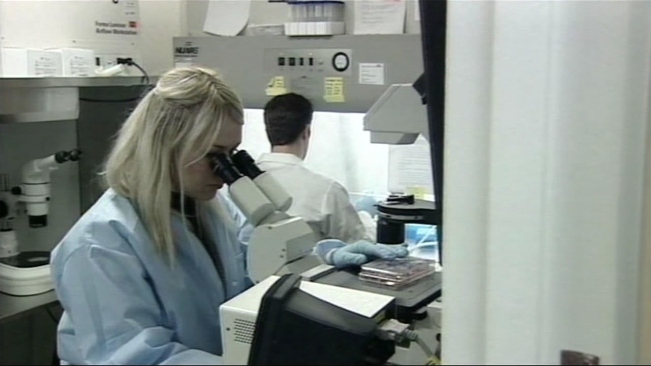 This undated image shows researchers working at the Buck Institute for Research on Aging in Novato, Calif.
