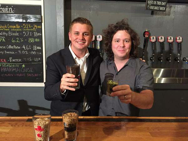 """<div class=""""meta image-caption""""><div class=""""origin-logo origin-image none""""><span>none</span></div><span class=""""caption-text"""">Cheers! Steve Campion visited Saint Arnold's Brewery for the morning show! (KTRK Photo)</span></div>"""