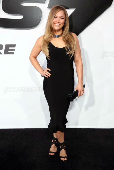 "<div class=""meta image-caption""><div class=""origin-logo origin-image none""><span>none</span></div><span class=""caption-text"">Ronda Rousey arrives at the premiere of ""Furious 7"" at the TCL Chinese Theatre IMAX on Wednesday, April 1, 2015, in Los Angeles. (Photo/Matt Sayles)</span></div>"