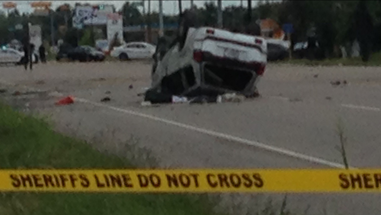 One person is dead after a rollover crash in northwest Harris County