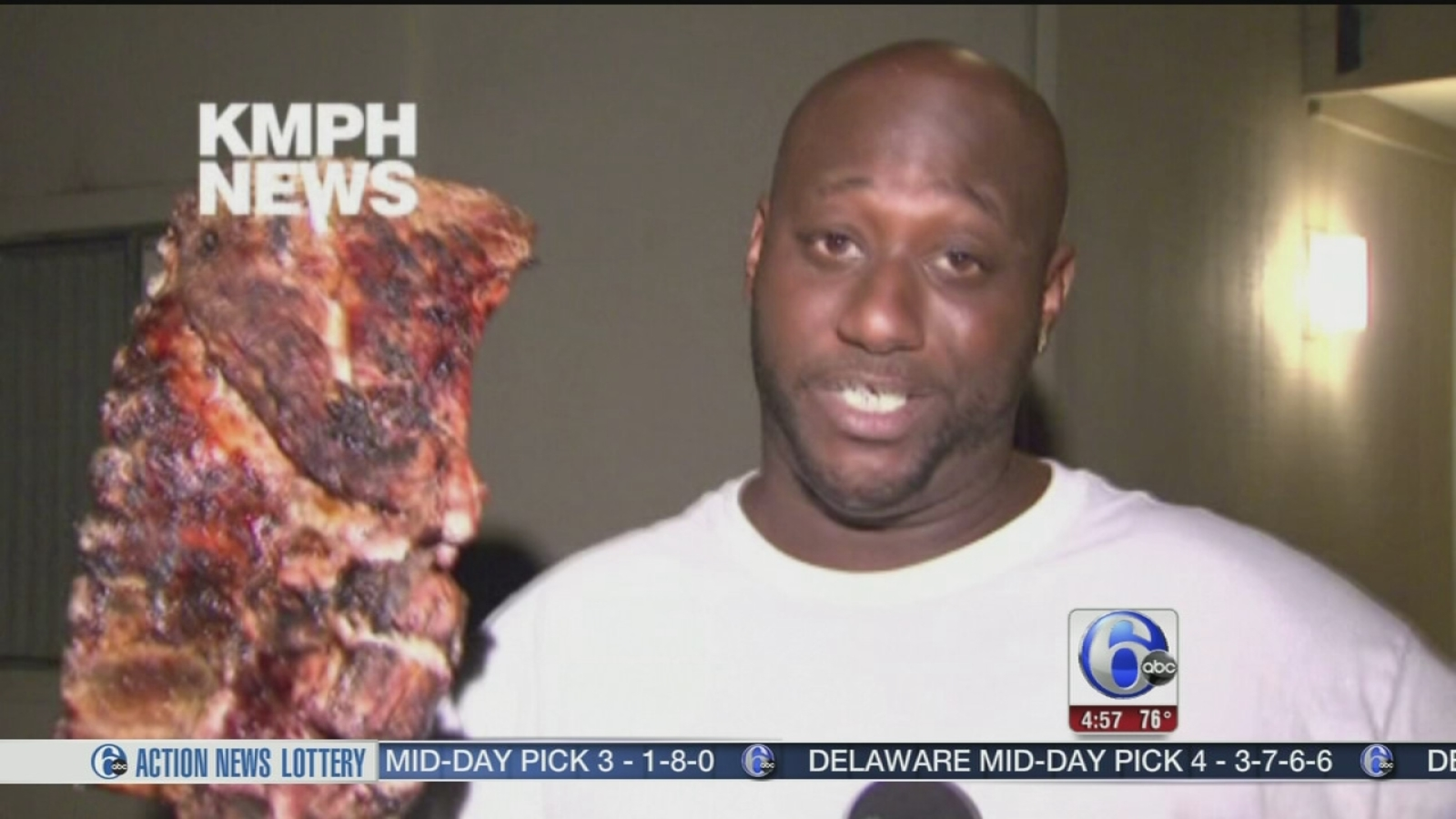 VIDEO: Man saves family, slab of ribs in apt  fire