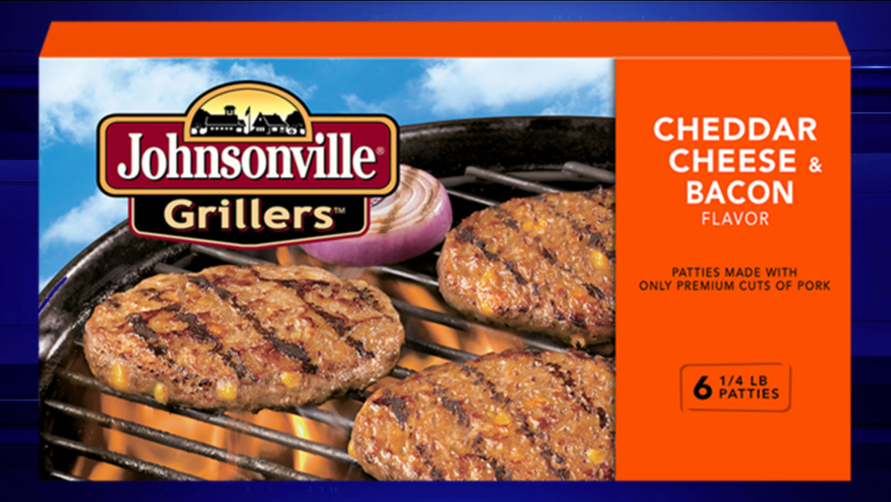 Johnsonville Grillers Cheddar Cheese & Bacon flavor
