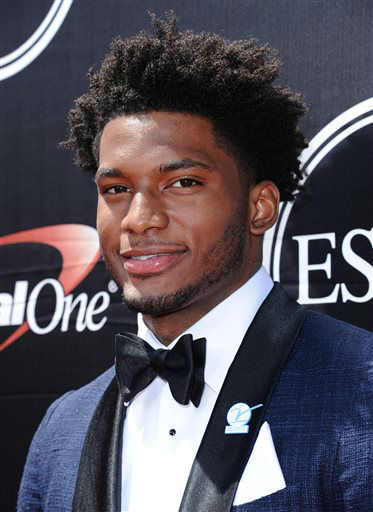 "<div class=""meta image-caption""><div class=""origin-logo origin-image none""><span>none</span></div><span class=""caption-text"">NBA player Justise Winslow, of the Miami Heat, arrives at the ESPY Awards at the Microsoft Theater on Wednesday, July 15. (KTRK Photo/ Richard Shotwell)</span></div>"