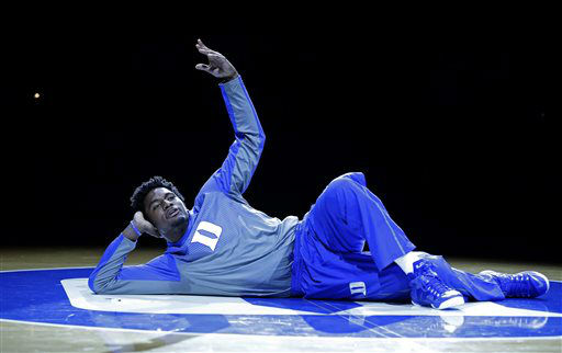 "<div class=""meta image-caption""><div class=""origin-logo origin-image none""><span>none</span></div><span class=""caption-text"">Duke's Justise Winslow is introduced as the team kicks off its NCAA college basketball season during Countdown to Craziness at Cameron Indoor Stadium Oct. 25. (AP Photo/ Gerry Broome)</span></div>"