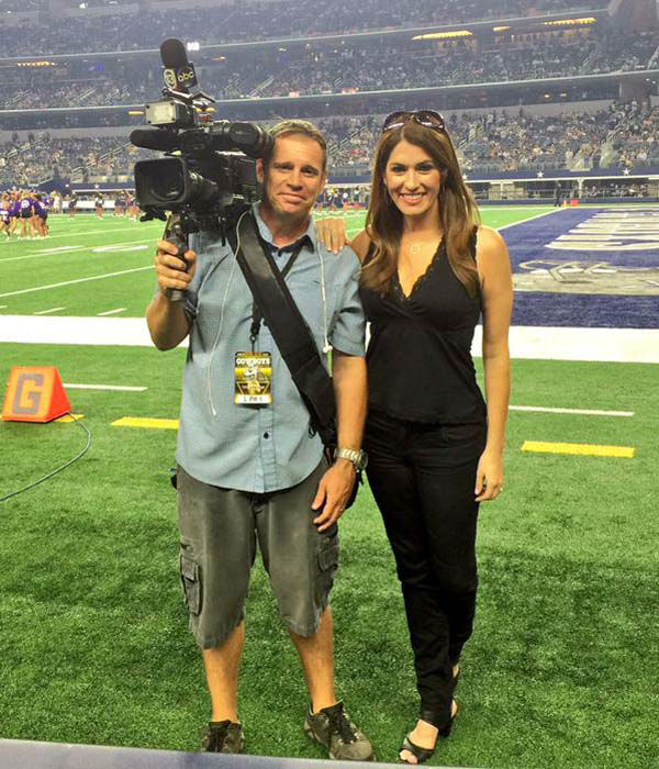 """<div class=""""meta image-caption""""><div class=""""origin-logo origin-image none""""><span>none</span></div><span class=""""caption-text"""">Natasha and her photographer Charles Fisher on the field in Dallas (KTRK Photo)</span></div>"""