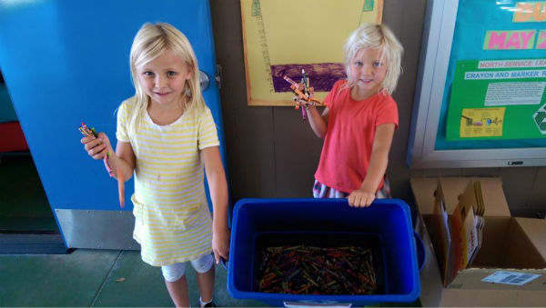 """<div class=""""meta image-caption""""><div class=""""origin-logo origin-image none""""><span>none</span></div><span class=""""caption-text"""">The Crayon Initiative starts by getting unwanted crayons donated from restaurants, schools and more. The crayons are then sorted by color by volunteers young and old. (The Crayon Initiative/Facebook)</span></div>"""