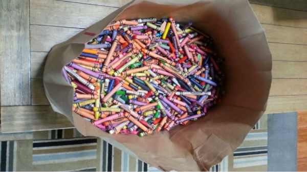 man repurposes restaurant crayons for patients at children s